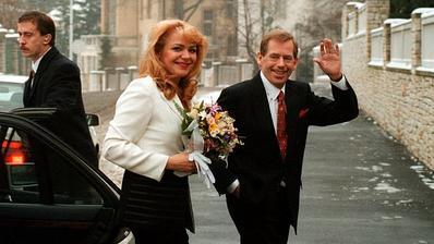 Václav Havel a Dagmar Veškrnová (1997)