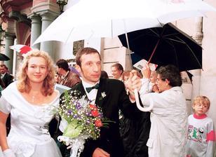 Václav Klaus ml. a Kamila Pojslová (1995)