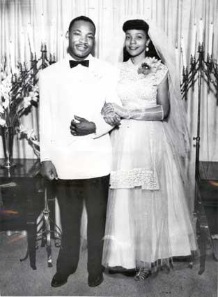 Svatby celebrit - Martin Luther King Jr a Coretta Scott (1953)