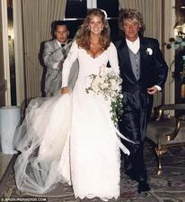 Rod Stewart a Rachel Hunter (1990)