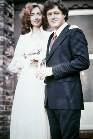 Svatby celebrit - Bill a Hillary Clintonovi (1975)