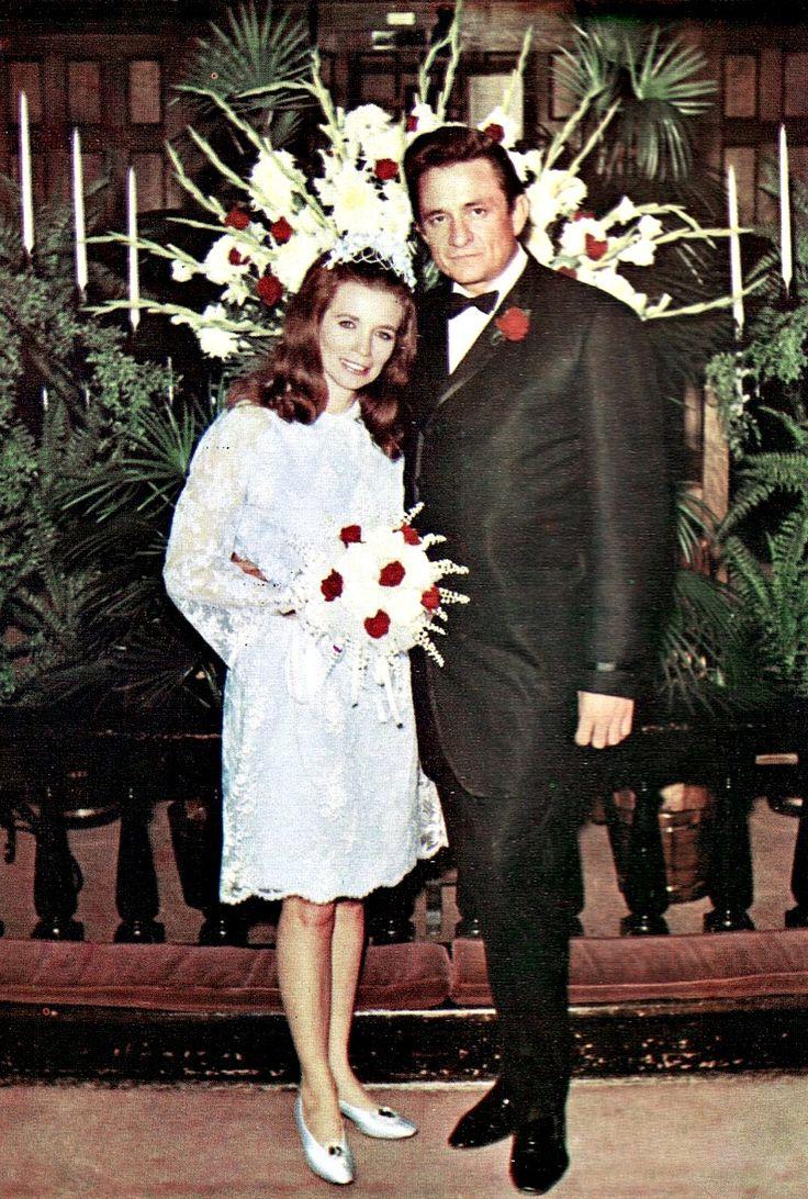 Svatby celebrit - Johhny Cash a June Carter (1968)