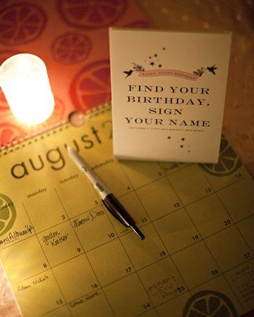 Kniha hostů - Najděte den svých narozenin a podepište se