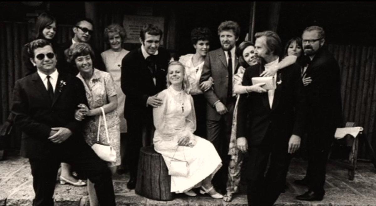 Svatby celebrit - Iva Janžurová a Jan Eisner (1968)