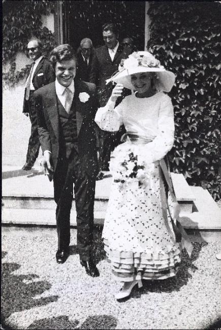 Svatby celebrit - Diane von Furstenberg a Egon von Furstenberg (1969)