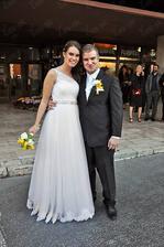 Lukáš Adamec (SuperStar) a jeho manželka Miriam (2013)