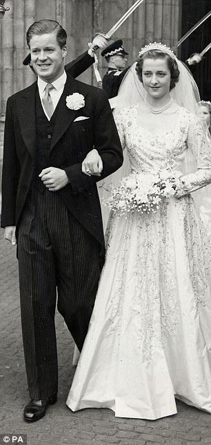Svatby celebrit - Rodiče princezny Diany - John Spencer a Frances Shand Kydd (1954)