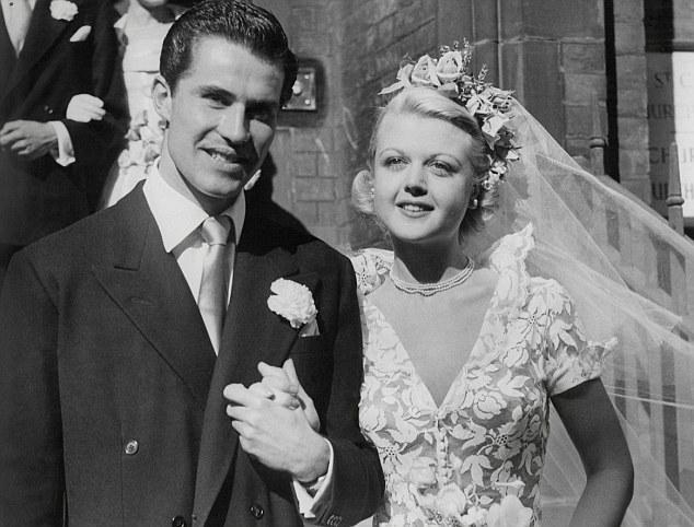 Svatby celebrit - Angela Lansbury(To je vražda, napsala) a Peter Shaw (1949)