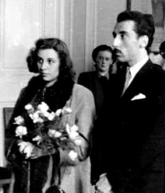 Svatby celebrit - Stella Zázvorková a Miloš Kopecký (1946)