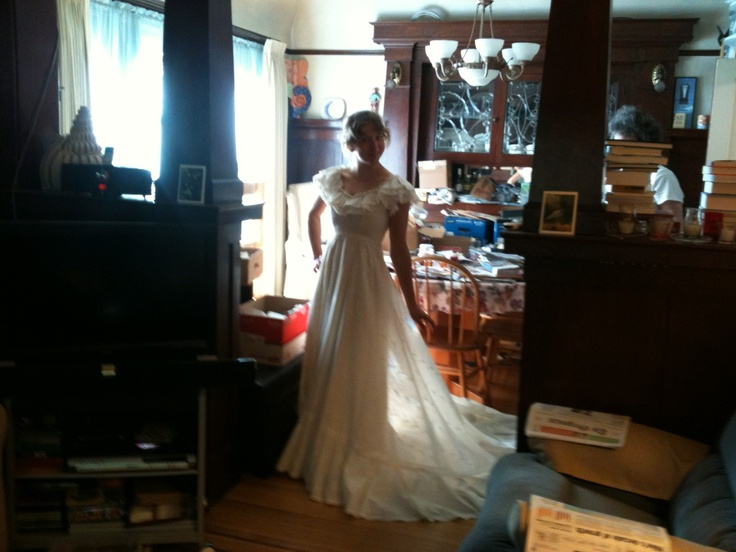 Maminčiny svatební šaty :)