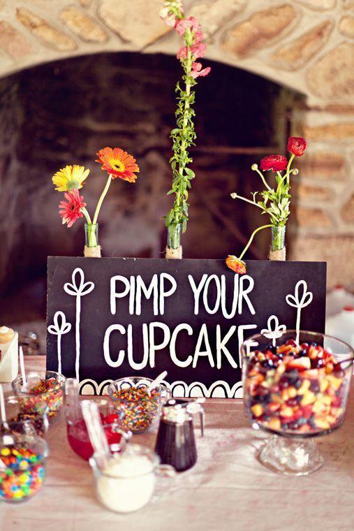 Hosté ocení - Ať si udělají vlastní cupcake, úplně podle sebe :)
