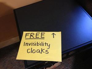 Neviditelné pláště zdarma!