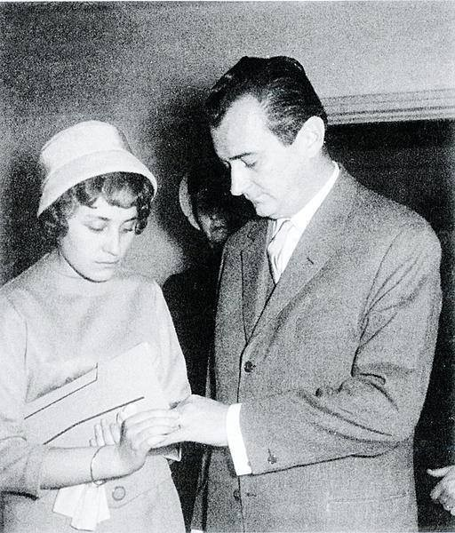 Svatby celebrit - Jiří Sovák a Andulka Nováková (1960)