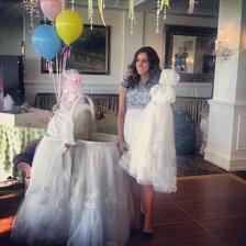 Kolébka ze svatebních šatů