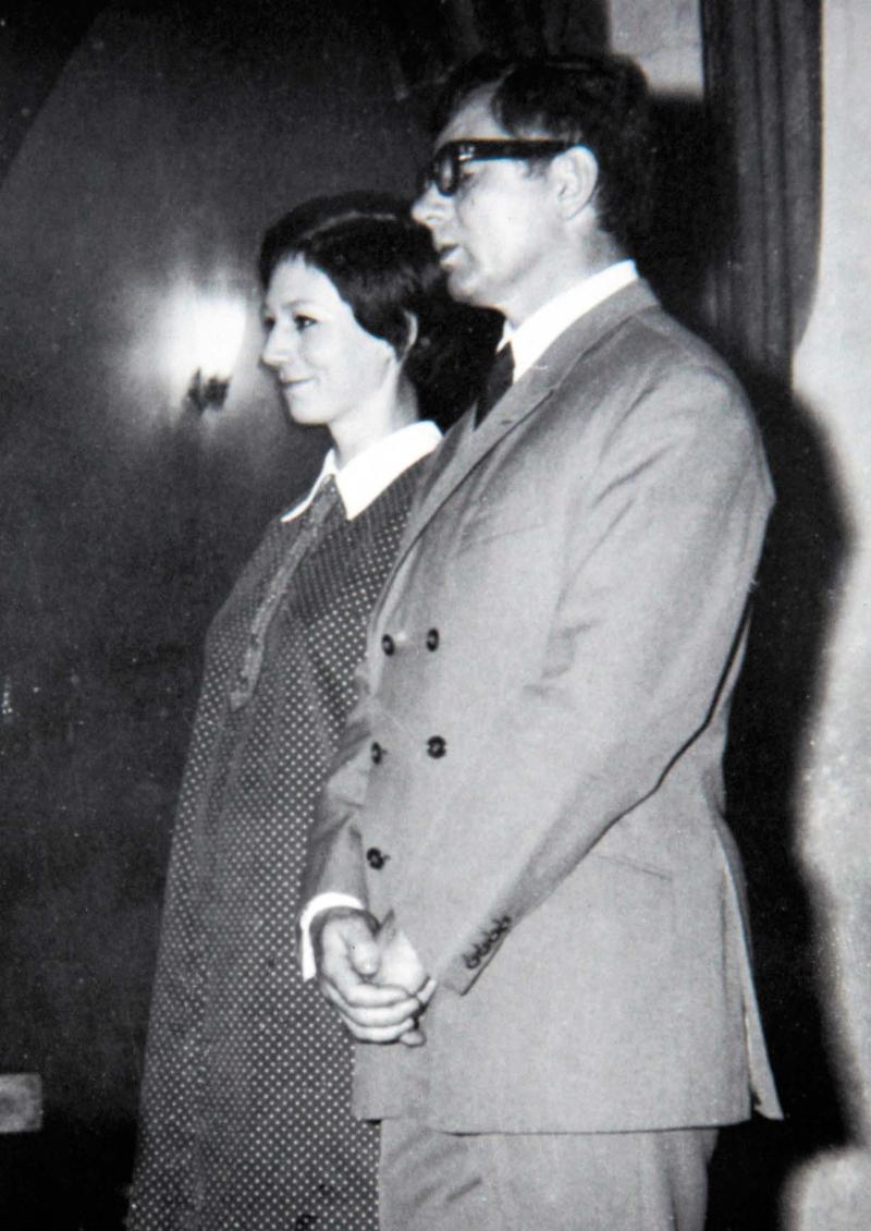 Svatby celebrit - Dana Syslová a Vlastimil Hašek (1969)