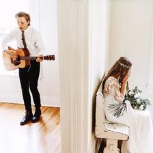 Ženich složil nevěstě píseň, kterou jí zahrál před obřadem, než jí poprvé spatřil