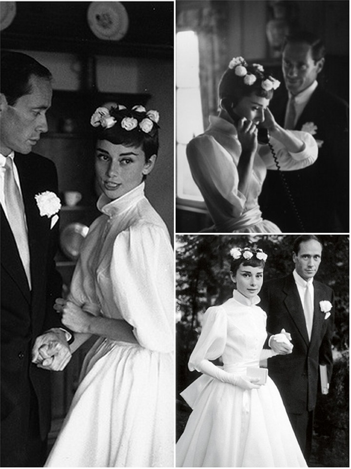 Svatby celebrit - Audrey Hepburn a Mel Ferrer (1954)