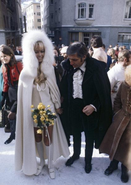Svatby celebrit - Briggite Bardot a Gunter Sachs (1966)