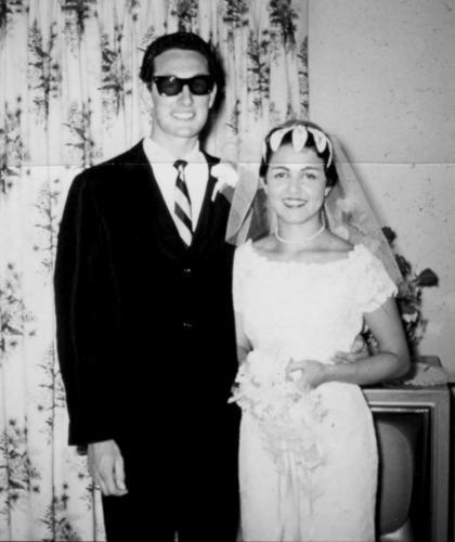 Svatby celebrit - Buddy Holly a manželka María Elena (1958)