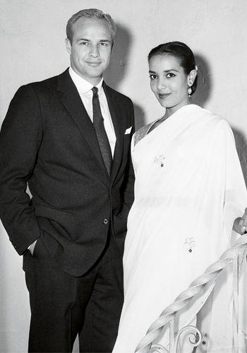 Svatby celebrit - Marlon Brando a Anna Kashfi (1957)