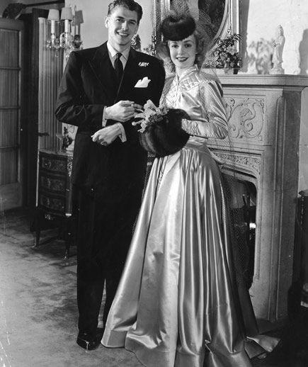 Svatby celebrit - Ronald Reagan a Jane Wyman (1940)