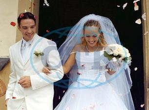 Petr Čajánek a manželka Kateřina (2002)