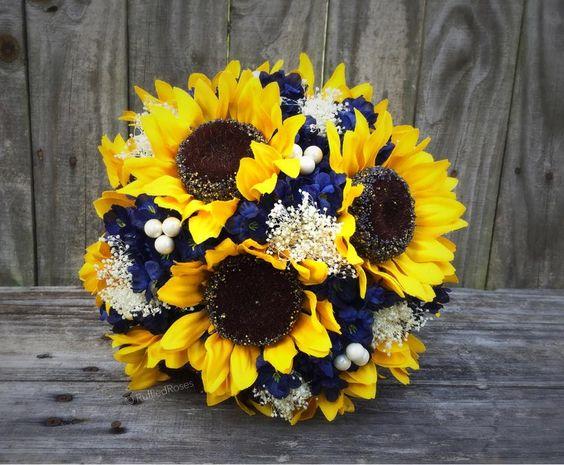Pro kifu - slunečnicová + tmavě modrá - Obrázek č. 2