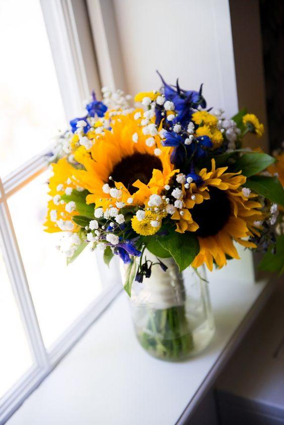 Pro kifu - slunečnicová + tmavě modrá - Obrázek č. 13