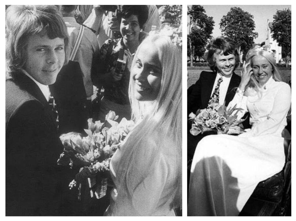 Svatby celebrit - Členové kapely ABBA - Agnetha Fältskog a Björn Ulvaeus (1971)