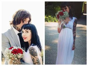 Oliver Sykes (Bring Me The Horizon) a Hannah Pixie Snowdon (2015)