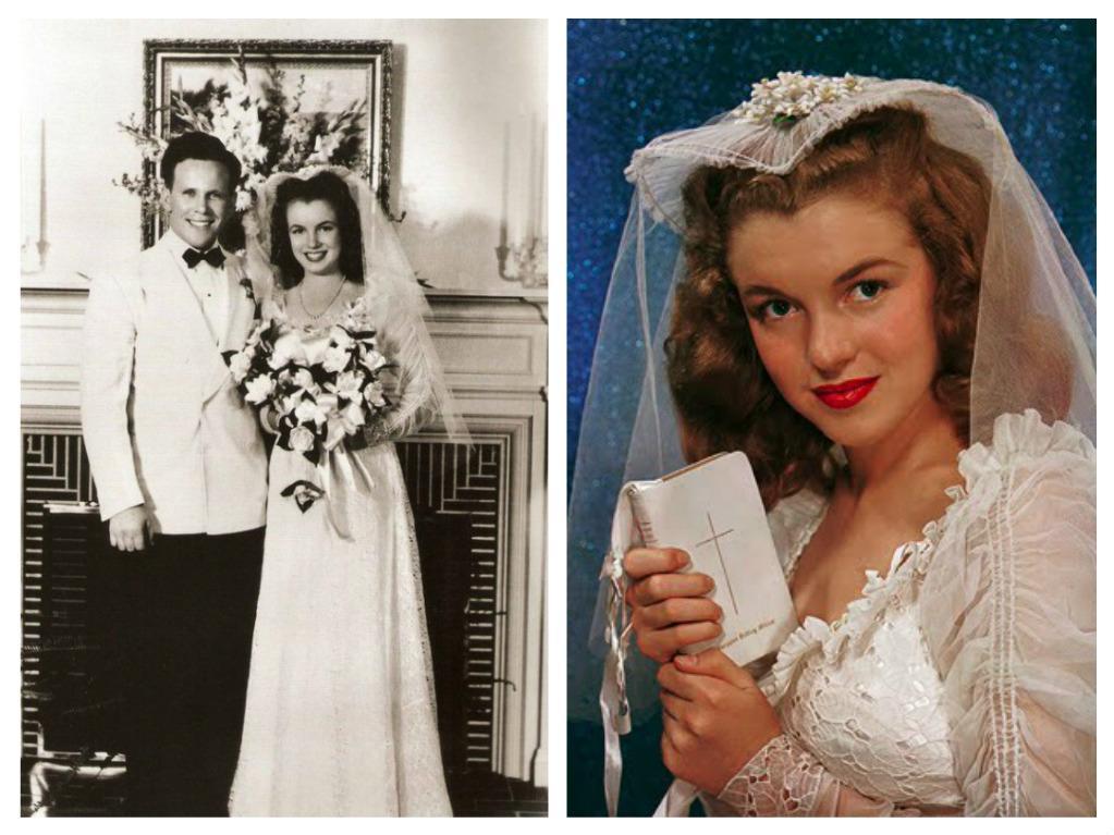 Svatby celebrit - Marilyn Monroe a James Dougherty (1942)