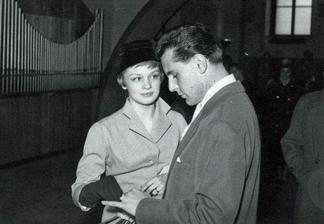 Jana Brejchová a Miloš Forman (1958)