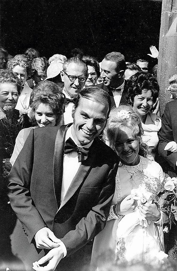 Svatby celebrit - Jan Přeučil a Štěpánka Haničincová (1971)