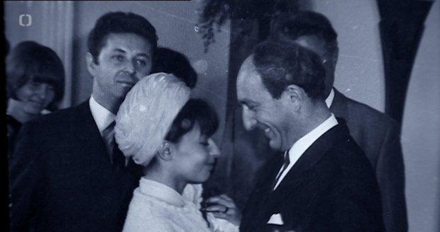 Svatby celebrit - Otakar Brousek a Luka Rubanovičová (1965)