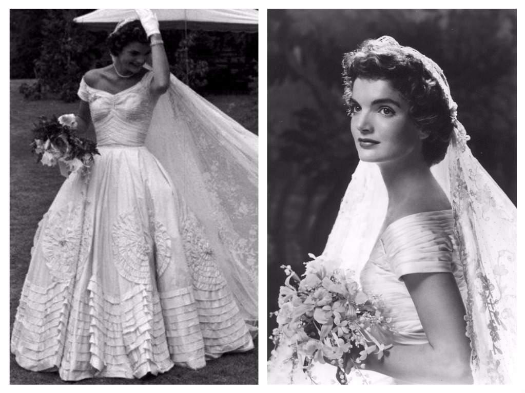 Svatby celebrit - Jacqueline Lee Bouvier- šaty