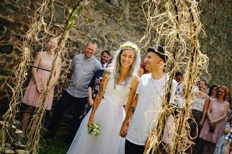 Lukáš Vincour (Pipes and Pints) a manželka Michaela (2017)