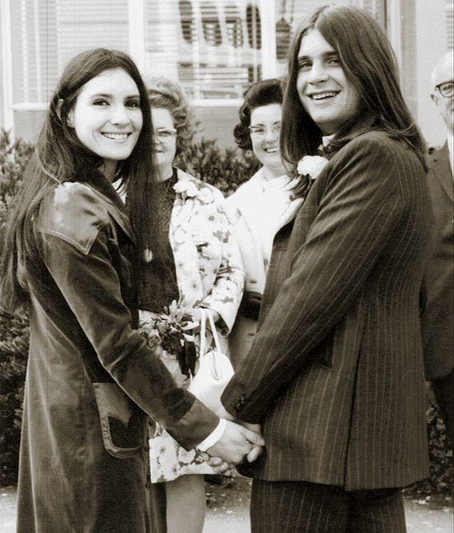 Svatby celebrit - Ozzy Osbourne a Thelma Riley (1971)