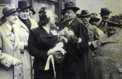 Svatby celebrit - František Filipovský a Hilda (1937)