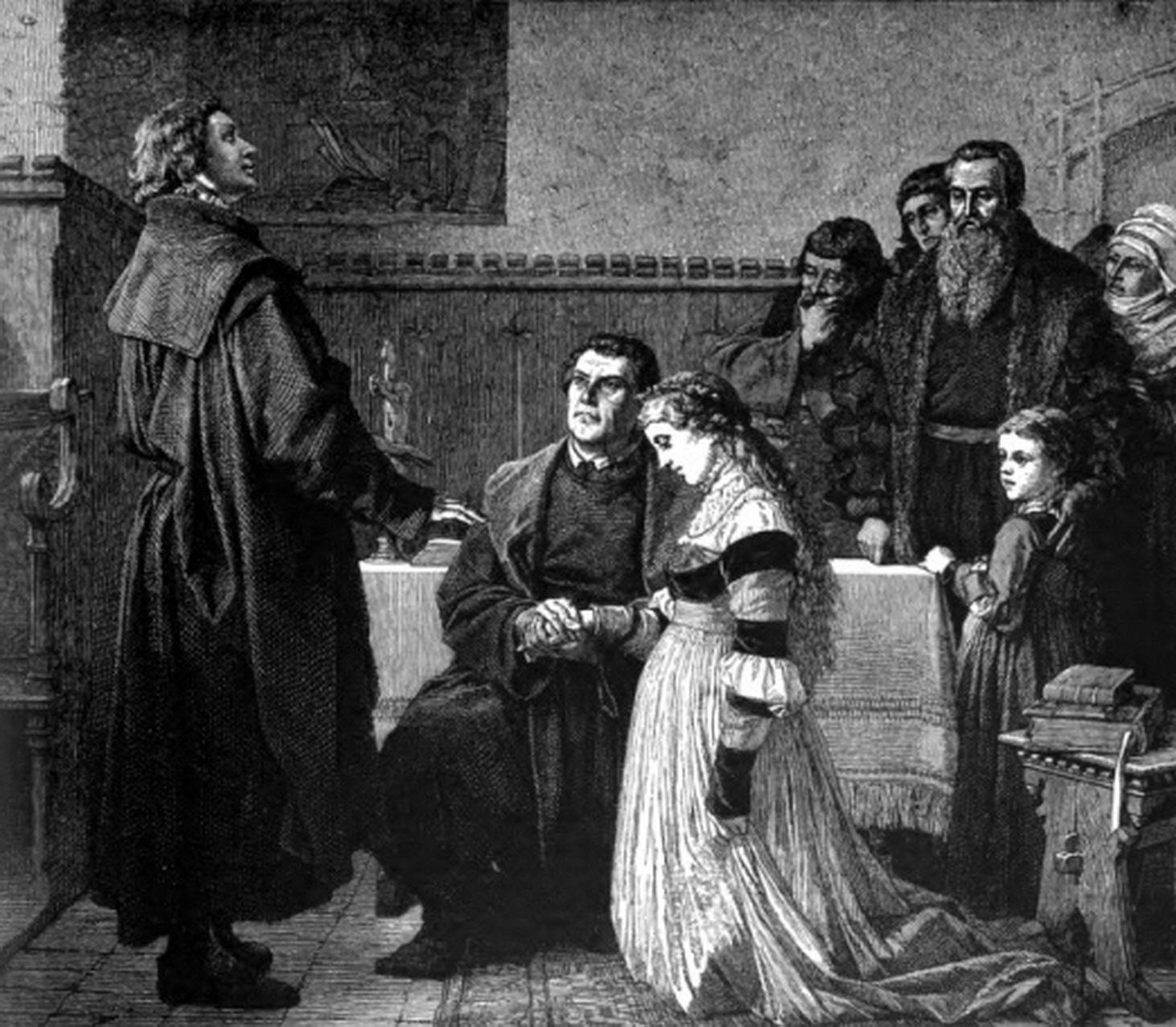 Svatby celebrit - Martin Luther a Katharina von Bora (1525)