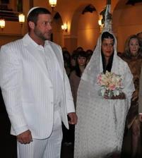 Sasha Mitchell (Cody-Krok za krokem) a manželka Rachel (2010)