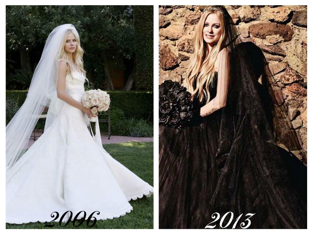 Celebrity - nevěstou dvakrát, třikrát i osmkrát :-D - Avril Lavigne
