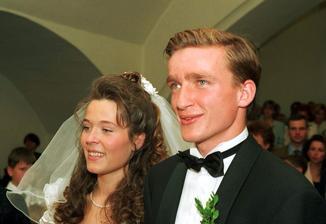 Vladimír Šmicer a Pavlína Vízková (1996)