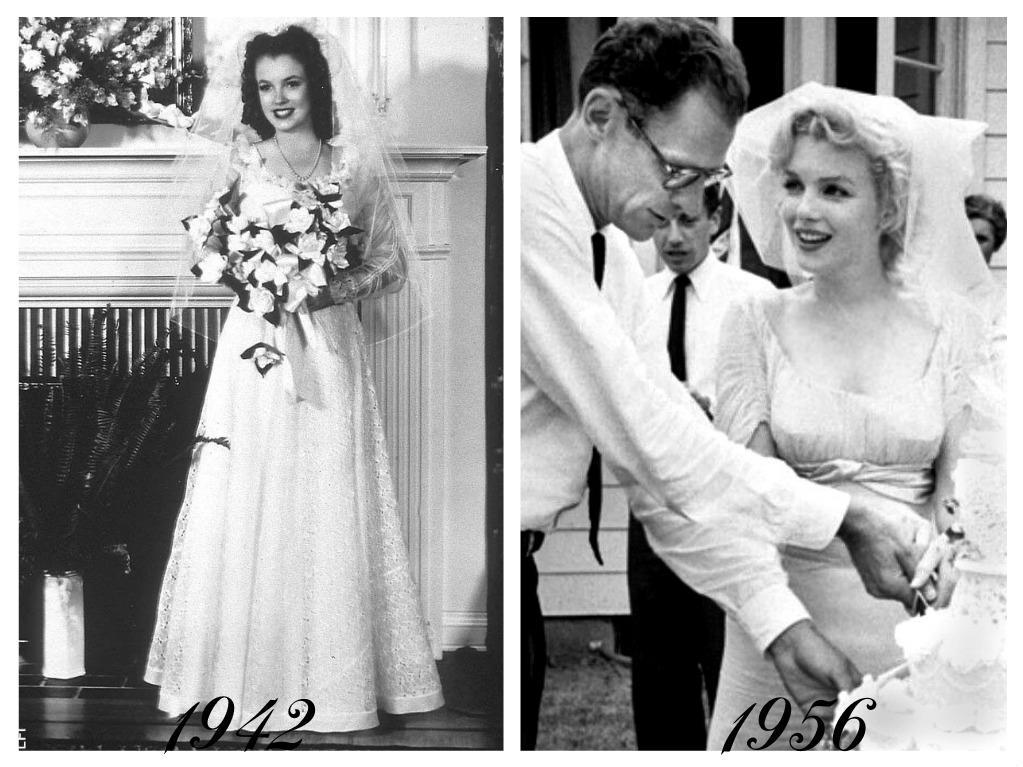 Celebrity - nevěstou dvakrát, třikrát i osmkrát :-D - Marilyn Monroe