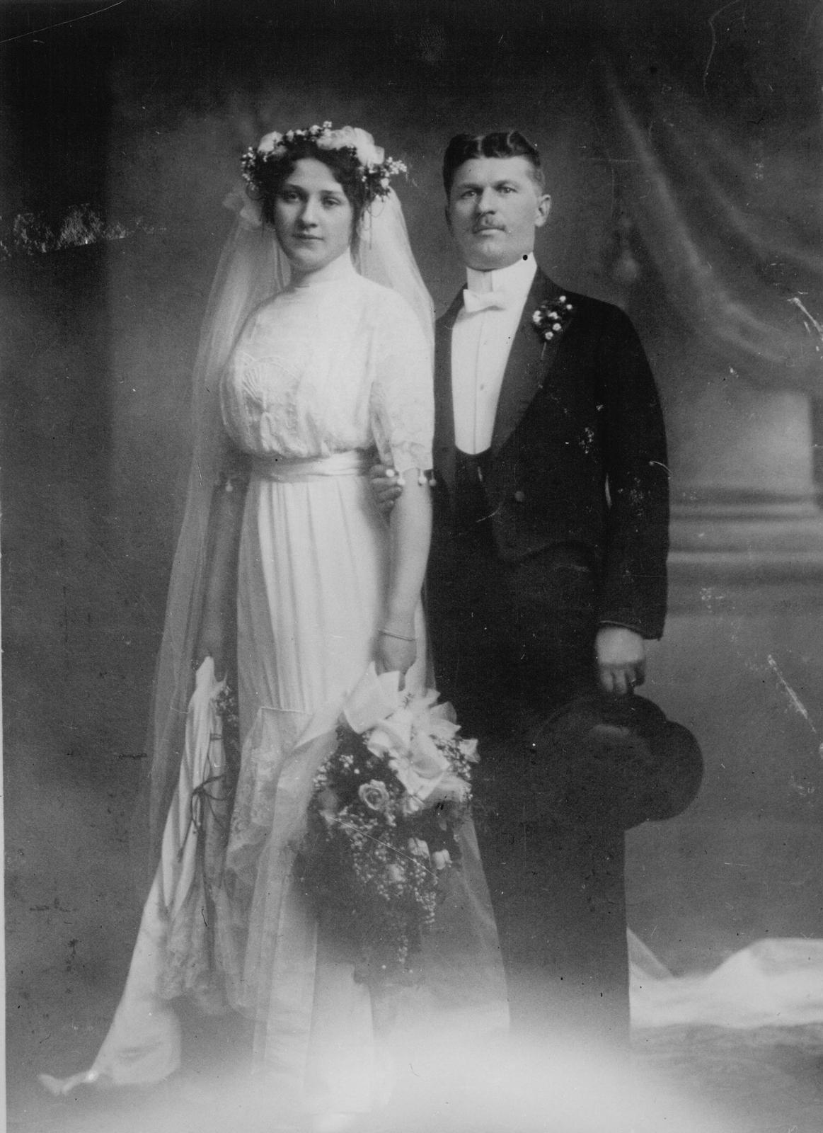 Svatby celebrit - Tomáš Baťa a Marie Menčíková (1912)