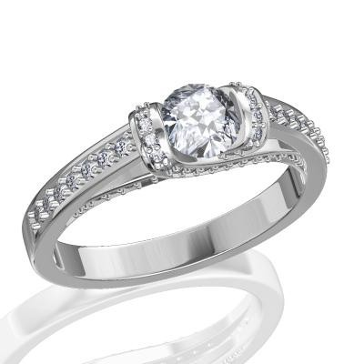 Nové zásnubná prstene v ponuke KIM GOLD - R022