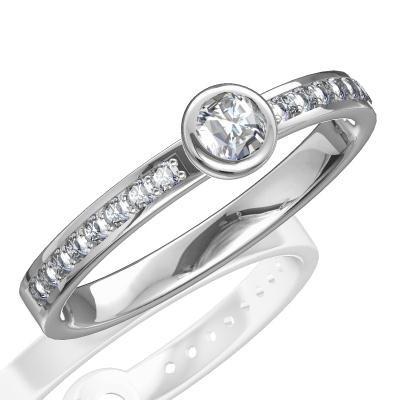 Nové zásnubná prstene v ponuke KIM GOLD - R034