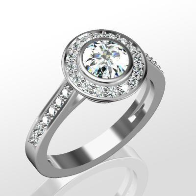 Nové zásnubná prstene v ponuke KIM GOLD - R055