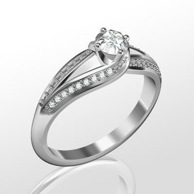 Nové zásnubná prstene v ponuke KIM GOLD - R062