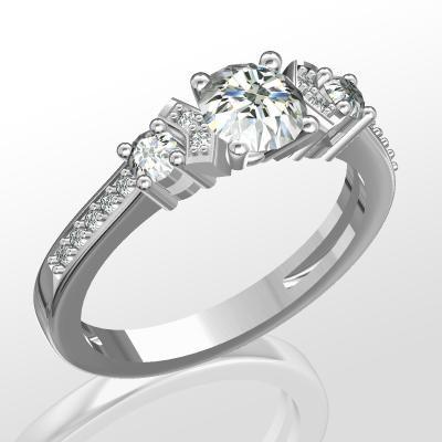 Nové zásnubná prstene v ponuke KIM GOLD - R063