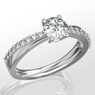 Nové zásnubná prstene v ponuke KIM GOLD - R066